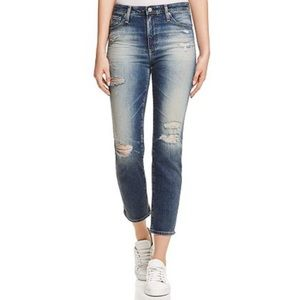 NWT AG Adriano Goldschmied Isabell High-Rise Crop